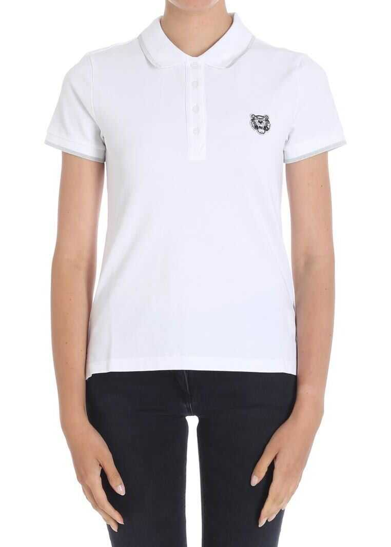 f404dcedfd Tricouri Polo Kenzo White Tiger Polo White Femei - Boutique Mall Romania