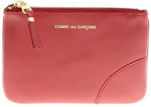 Red Leather Purse With Logo Print thumbnail