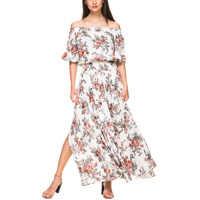Rochii Women's White Floral Maxi Dress Femei