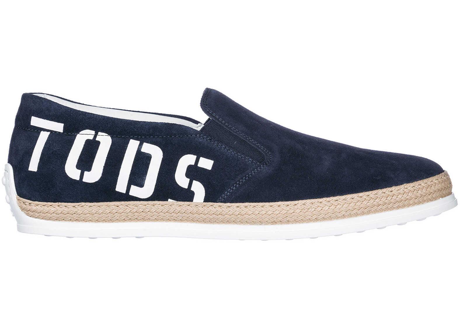 TOD'S On Sneakers XXM0TV0Y090RE0U820 Blue imagine b-mall.ro