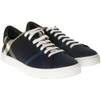 Tenisi & Adidasi Burberry Blue Check Print Fabric Albert Sneakers