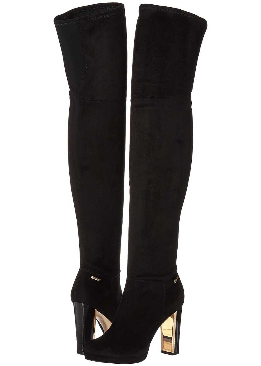 Calvin Klein Polomia Black Neoprene/Stretch Microsuede