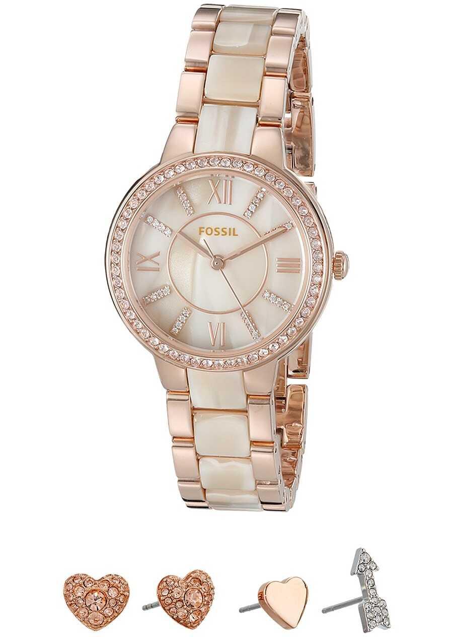 Fossil Virginia Watch/Earrings Set - ES3965SET Rose Gold
