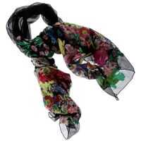 Esarfe ETRO Black Silk Blend Embroidered Foulard Femei