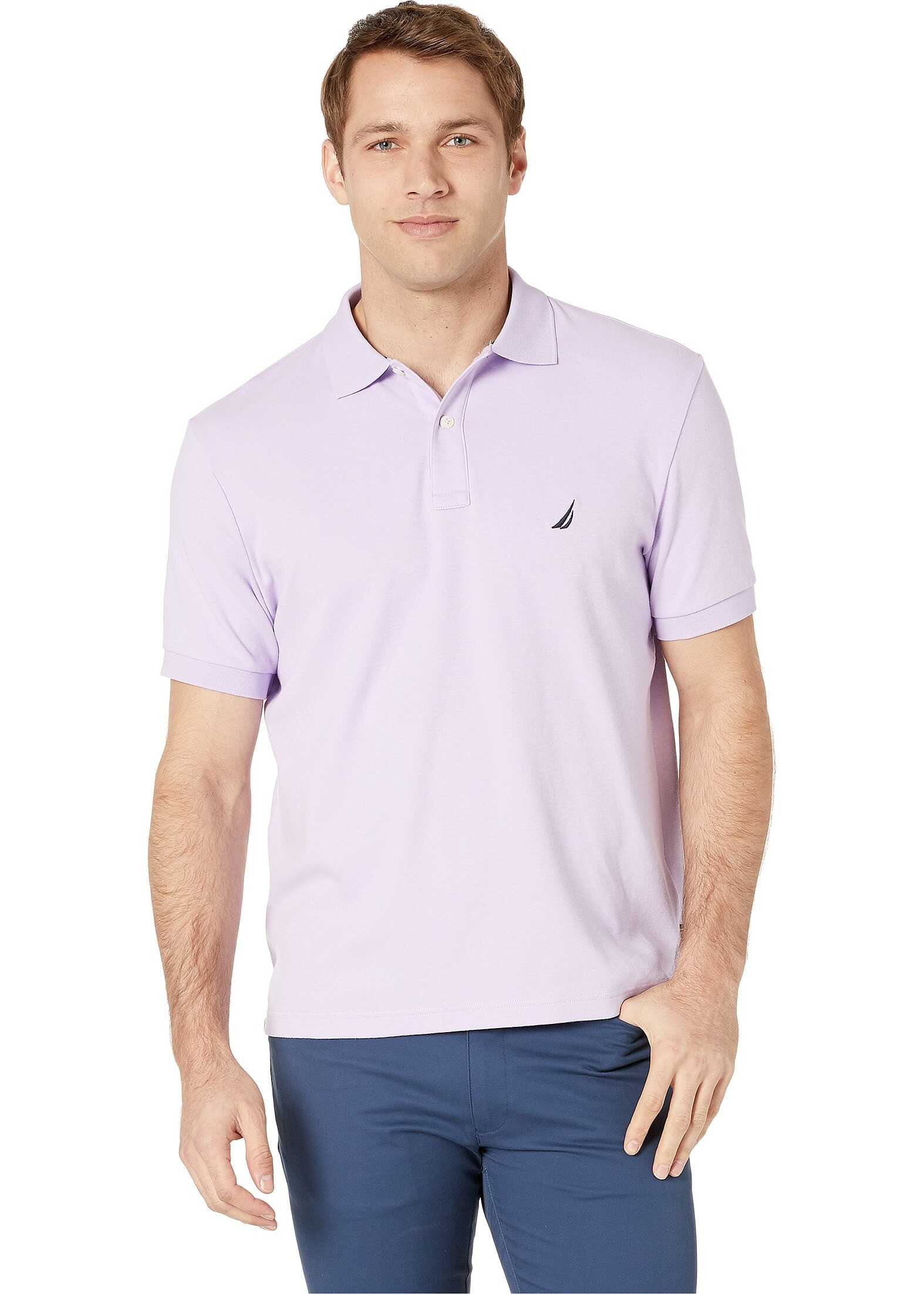 Nautica Short Sleeve Solid Interlock Polo Lavendula