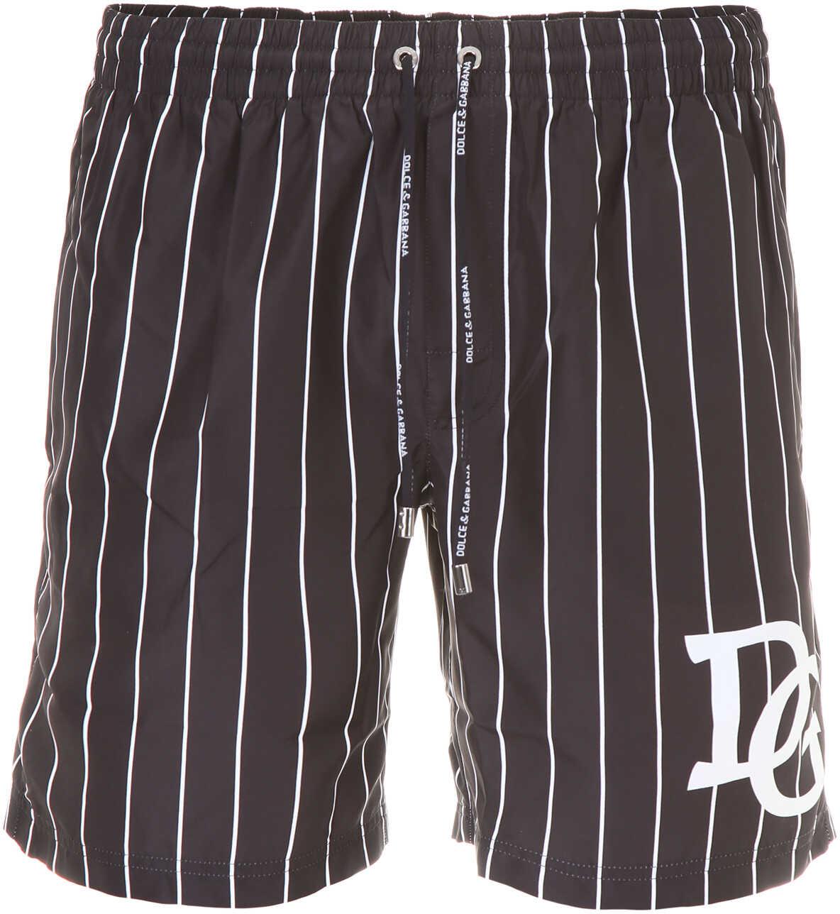 Dolce & Gabbana Swim Shorts RIGA BCA FDO NERO