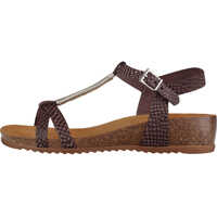Sandale Strappy Wedge Sandals In Dark Brown Femei