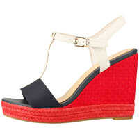 Sandale Iconic Elena Pop Color Wedge Sandals In Navy Red Blue Femei