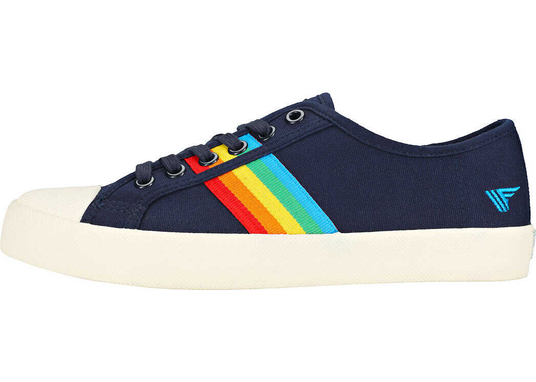 Gola Coaster Rainbow Trainers In Navy Multicolour Blue