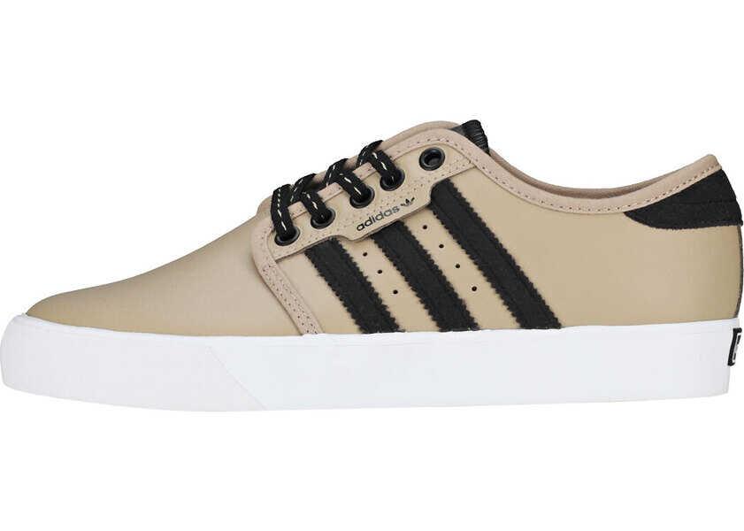 Pantofi sport Fete adidas Seeley J Kids Trainers In Khaki Black