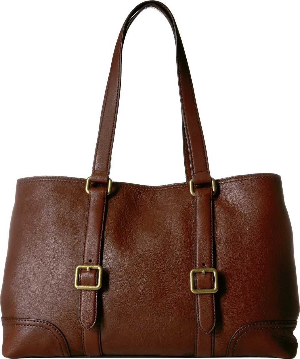 Frye Lily Tote Dark Brown Nappa