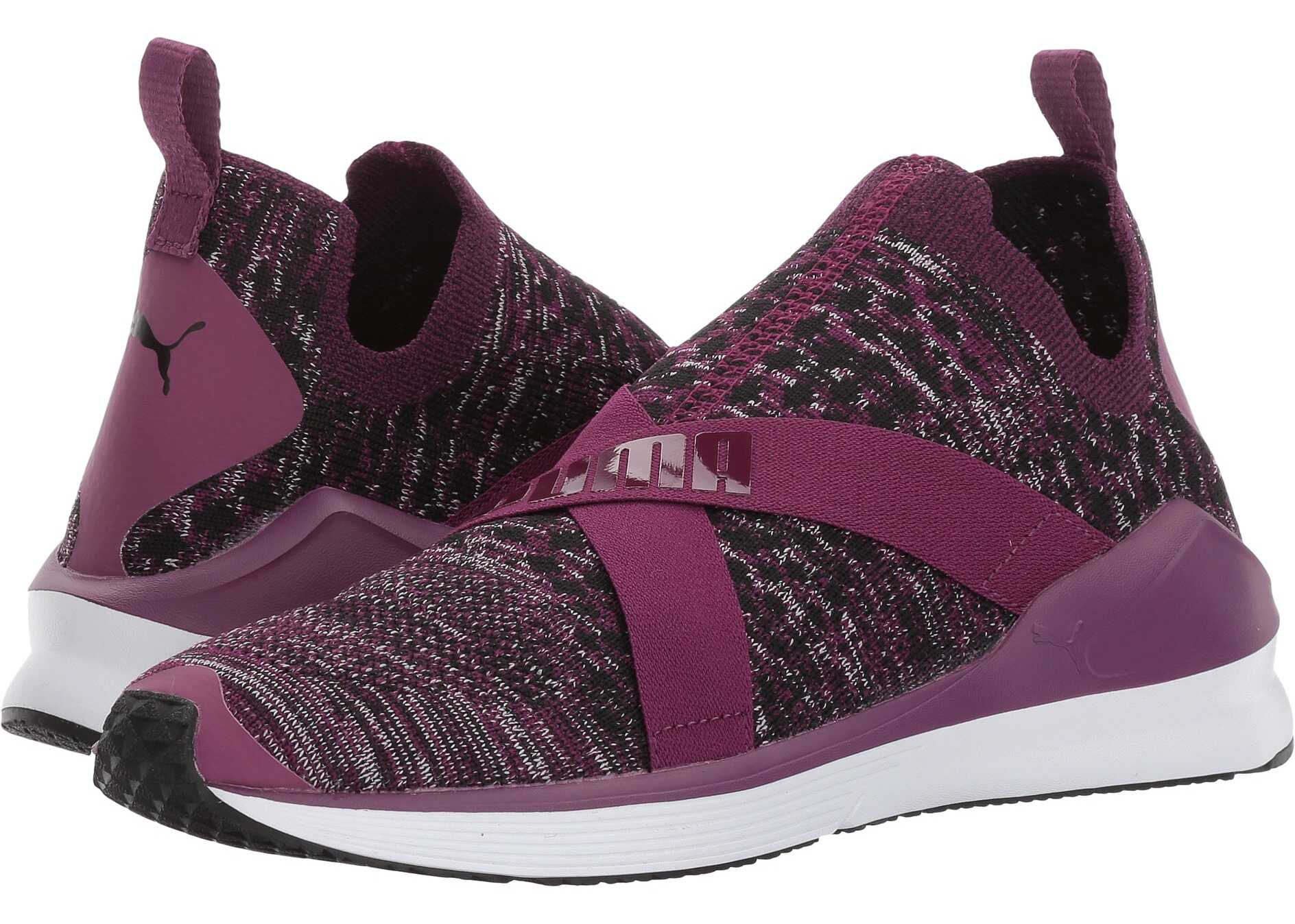 PUMA Fierce Evoknit Dark Purple/Puma White