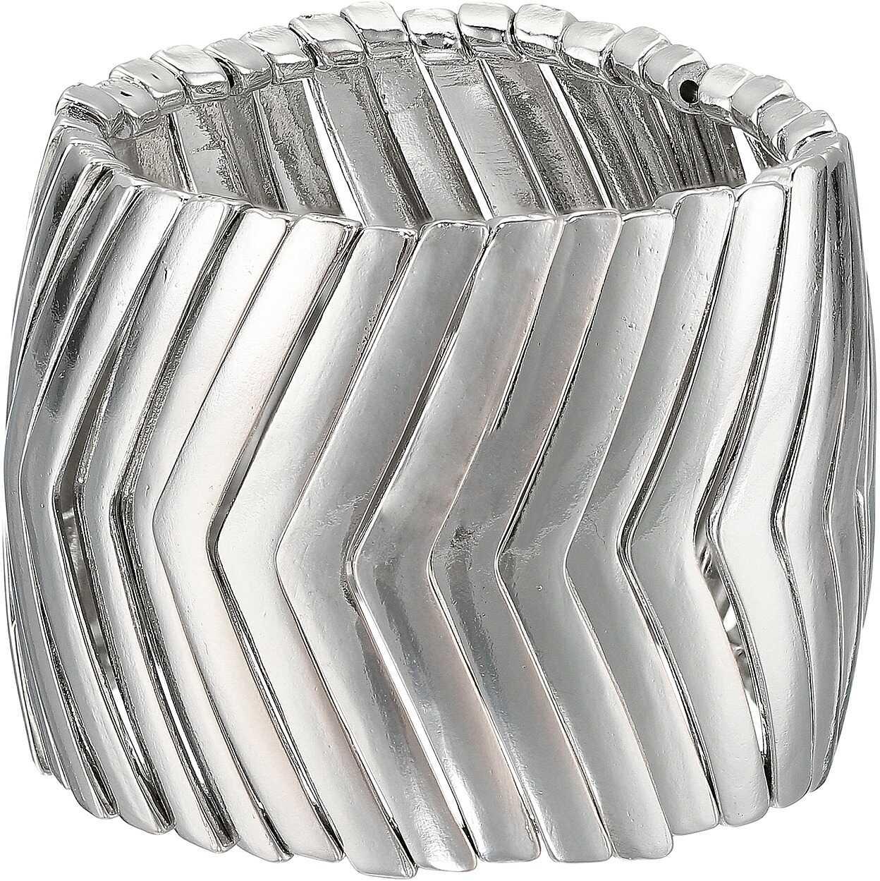 Steve Madden Snake Link Bracelet Silver