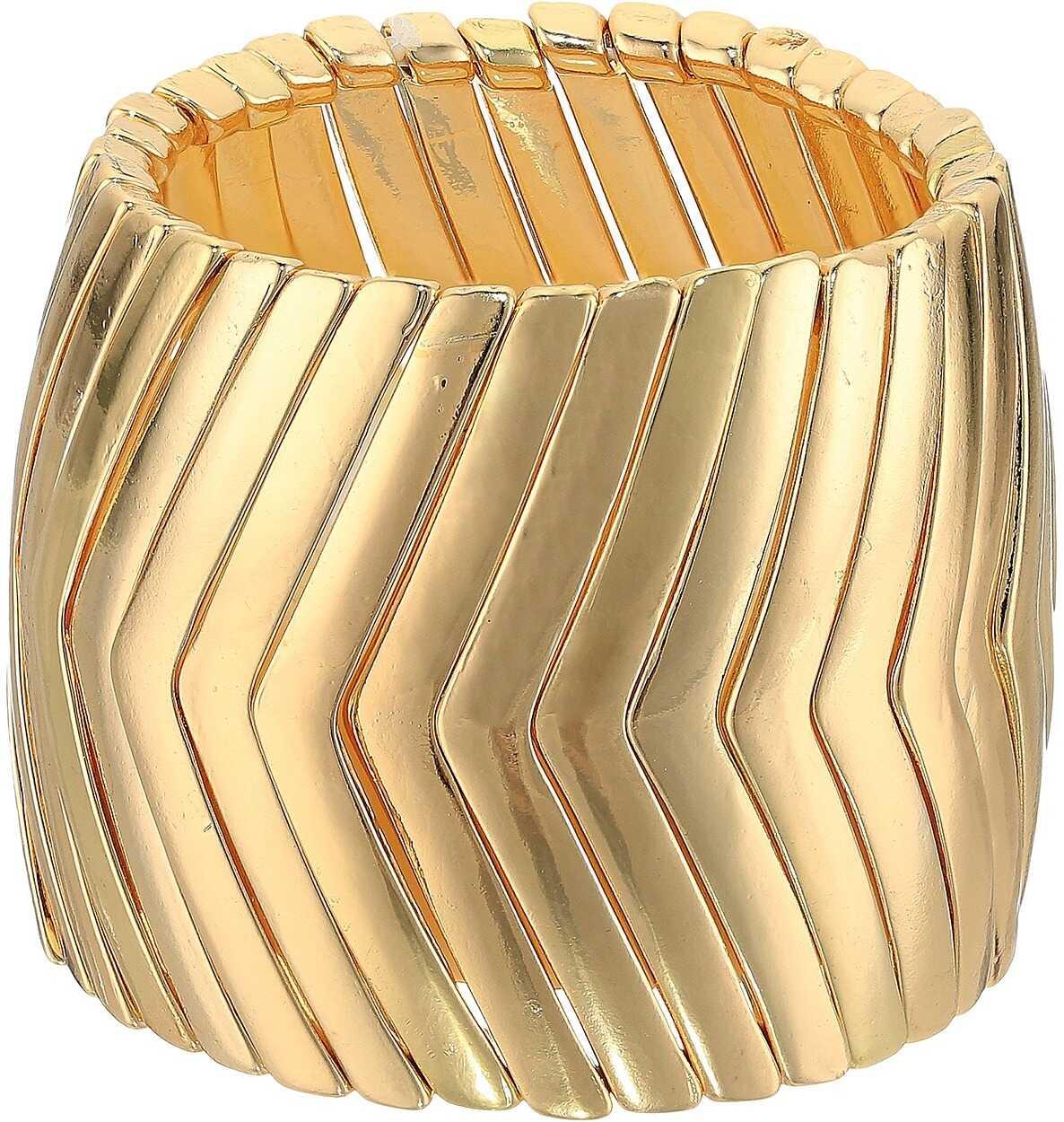 Steve Madden Snake Link Bracelet Gold