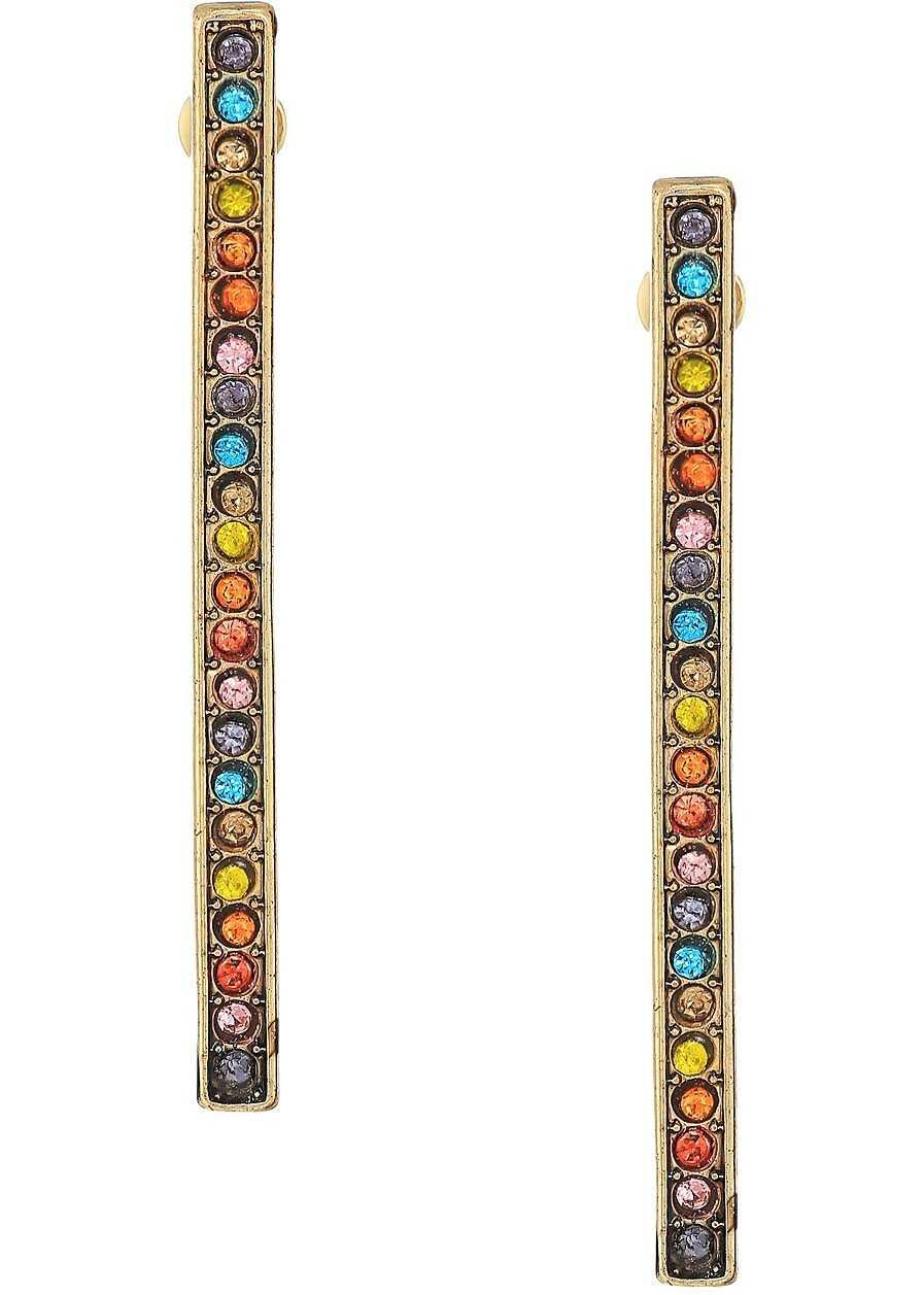 Steve Madden Casted Bar Post Earrings Gold