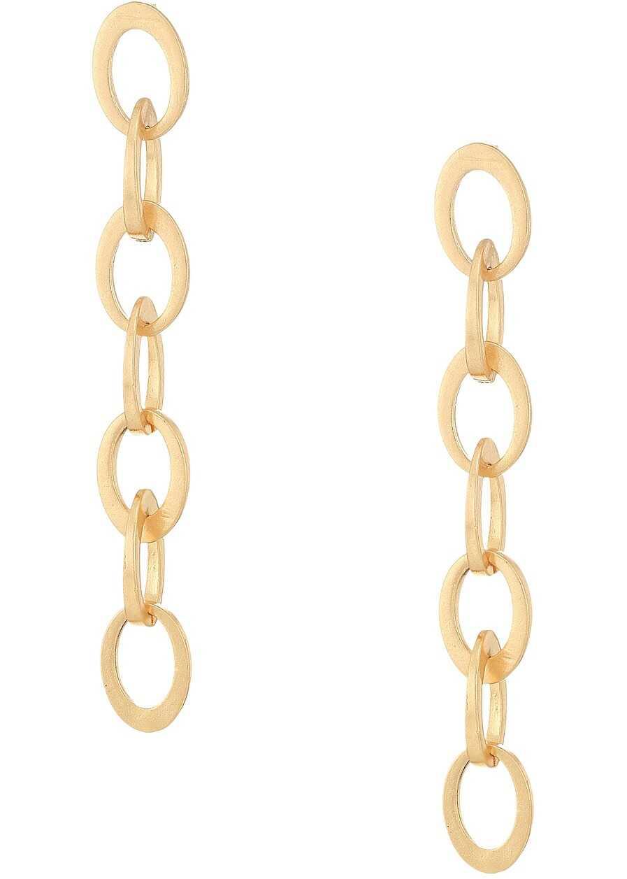 Steve Madden Rolo Dangle Post Earrings Gold