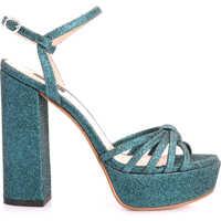 Pantofi cu Toc Champagne Femei