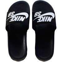 Slapi Nike Skateboarding Benassi Solarsoft Slides In Black White* Barbati