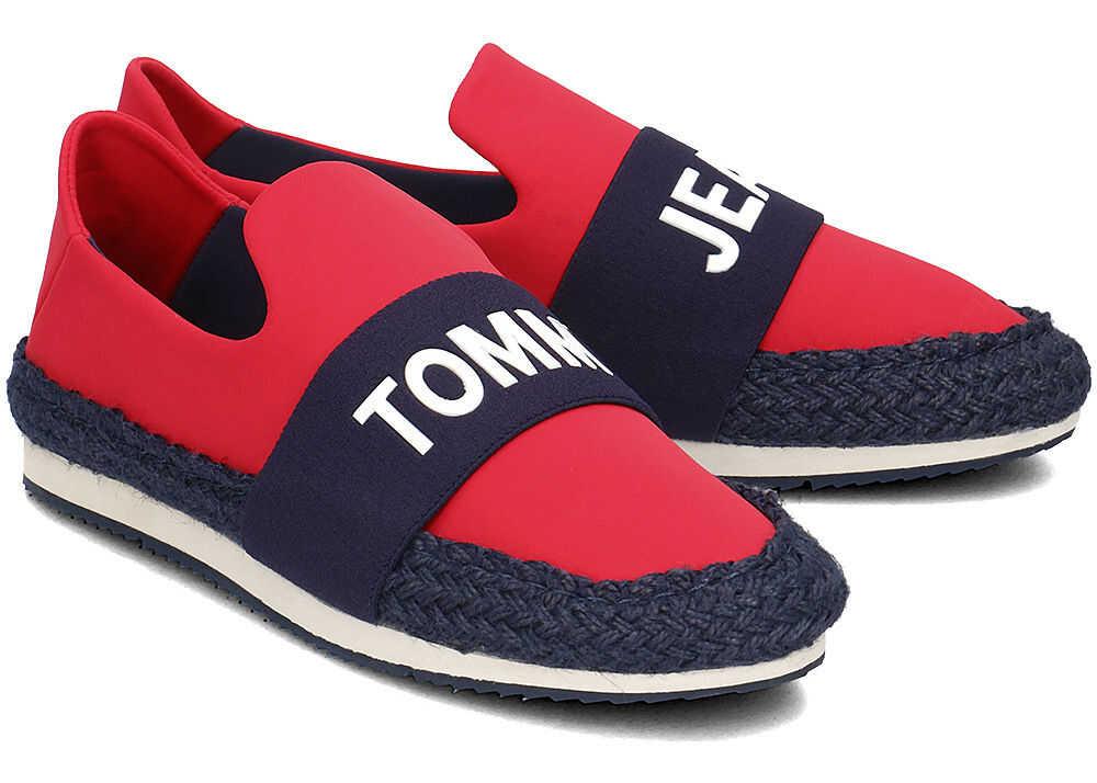 Tommy Hilfiger Hybrid Slip On Czerwony