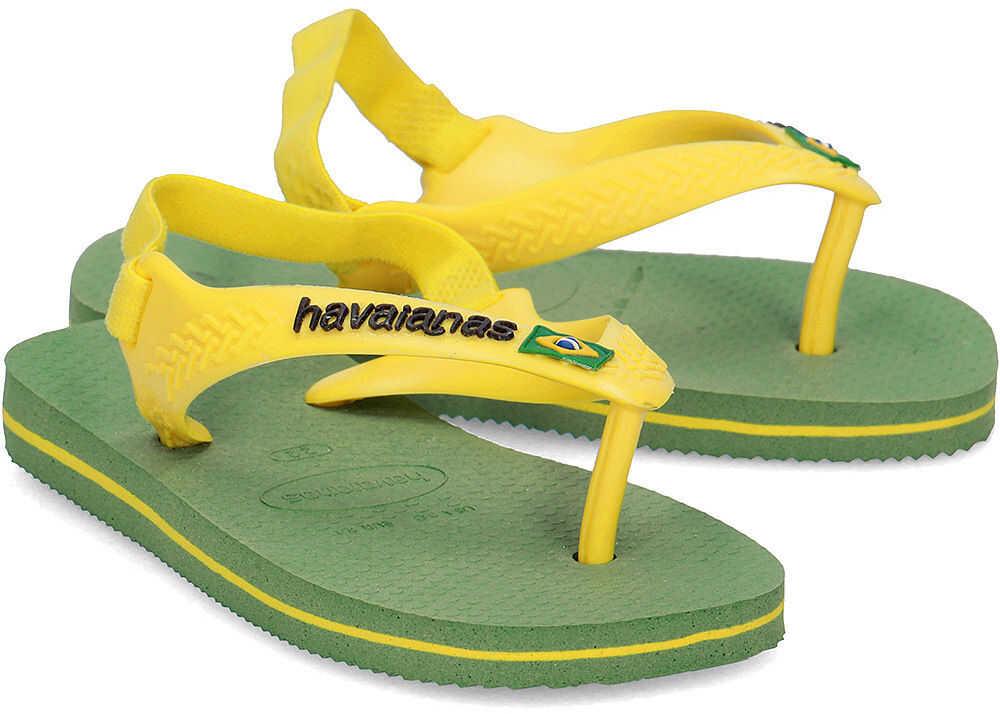 Havaianas Brasil Logo Zielony