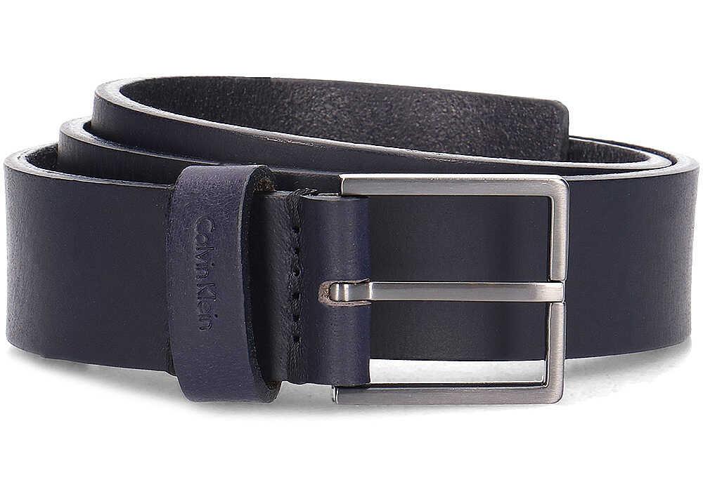 Calvin Klein Essential Belt 3.5 Granatowy