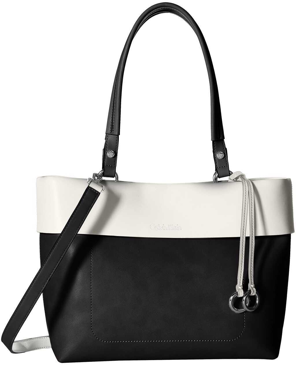Calvin Klein East/West Tote Black/White