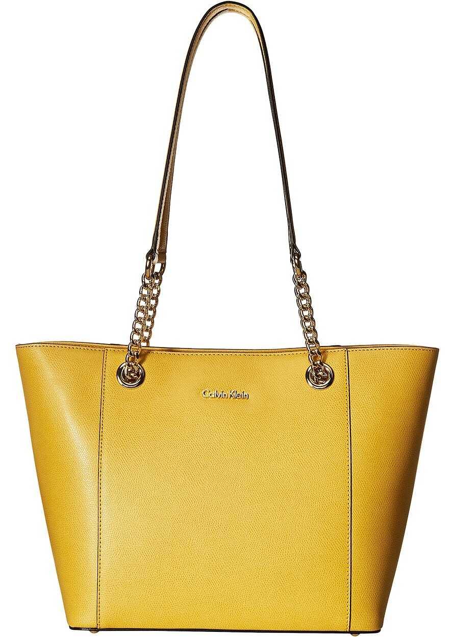 Calvin Klein Saffiano Tote Marigold