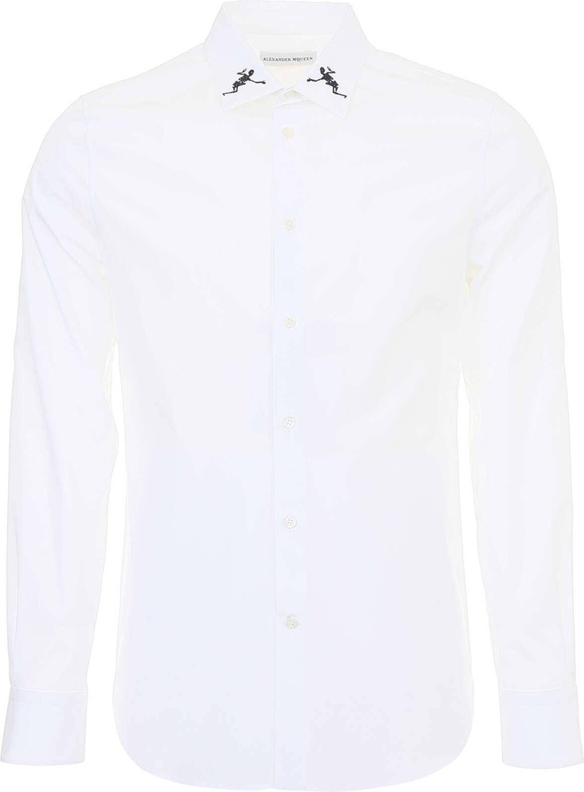 Alexander McQueen Dancing Skeleton Shirt WHITE