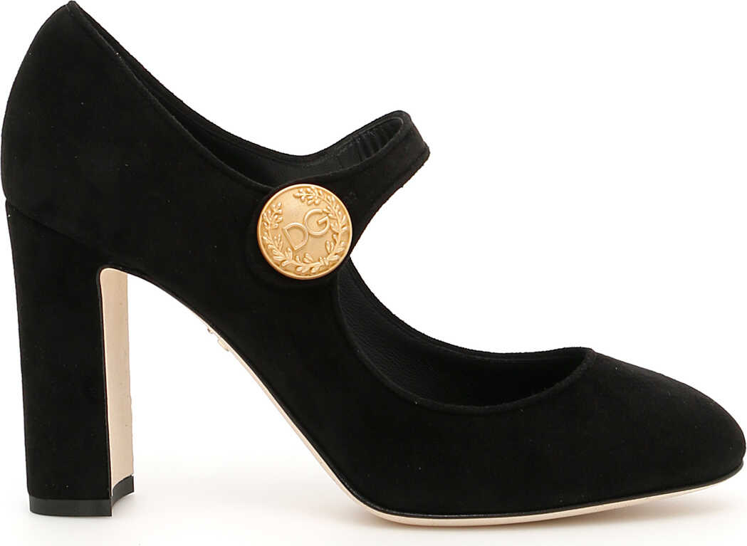 Dolce & Gabbana Suede Mary Jane Pumps NERO