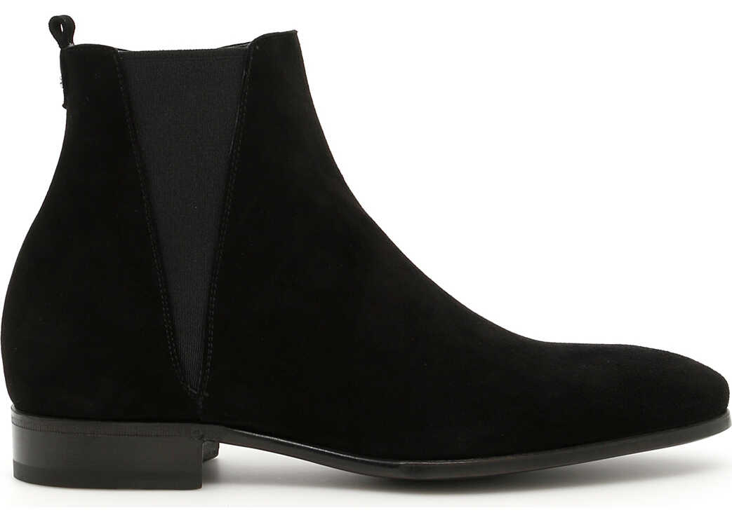 Dolce & Gabbana Suede Beatle Boots NERO