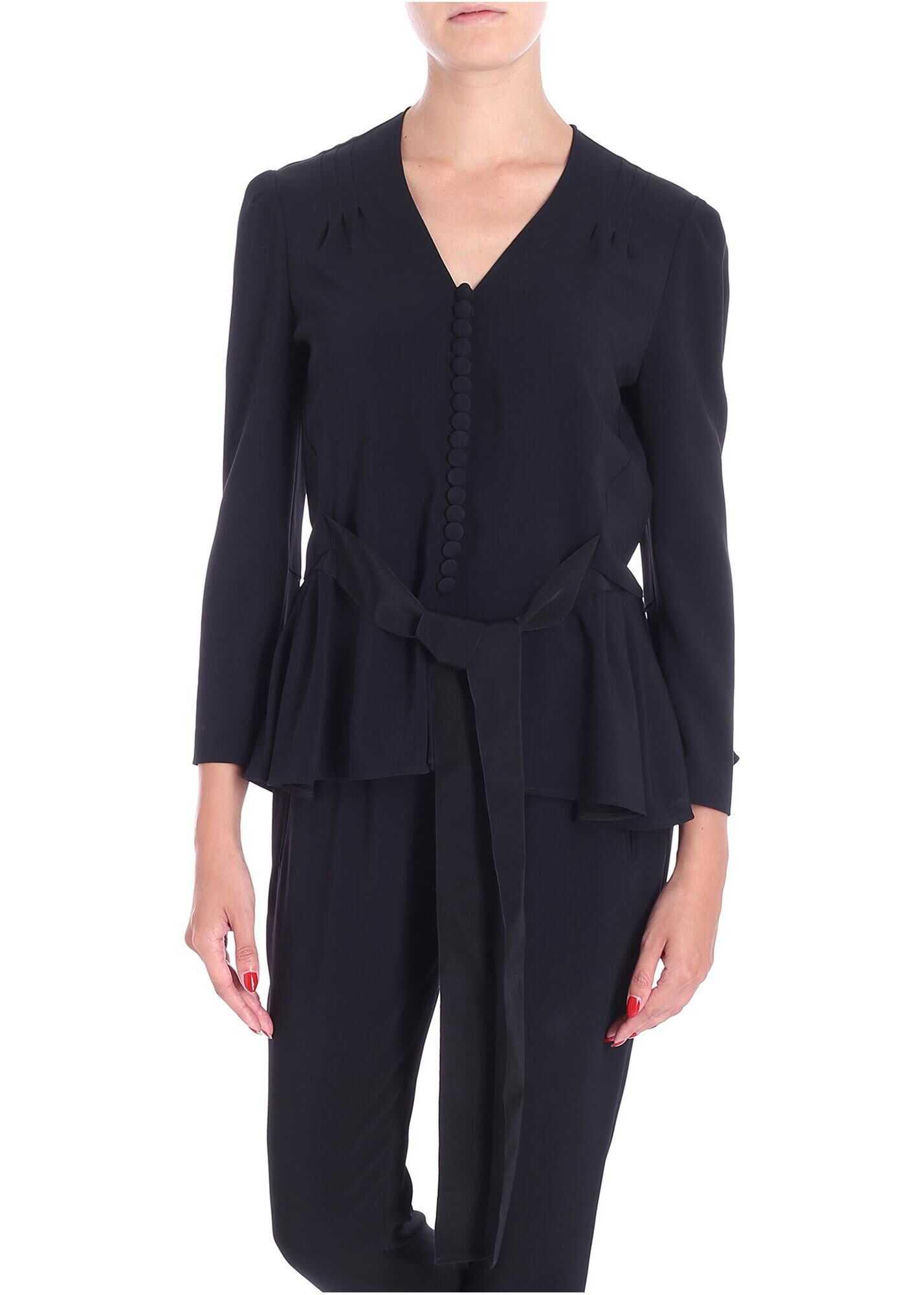 adidas by Stella McCartney Black Shirt With Ribbon On The Waist Black