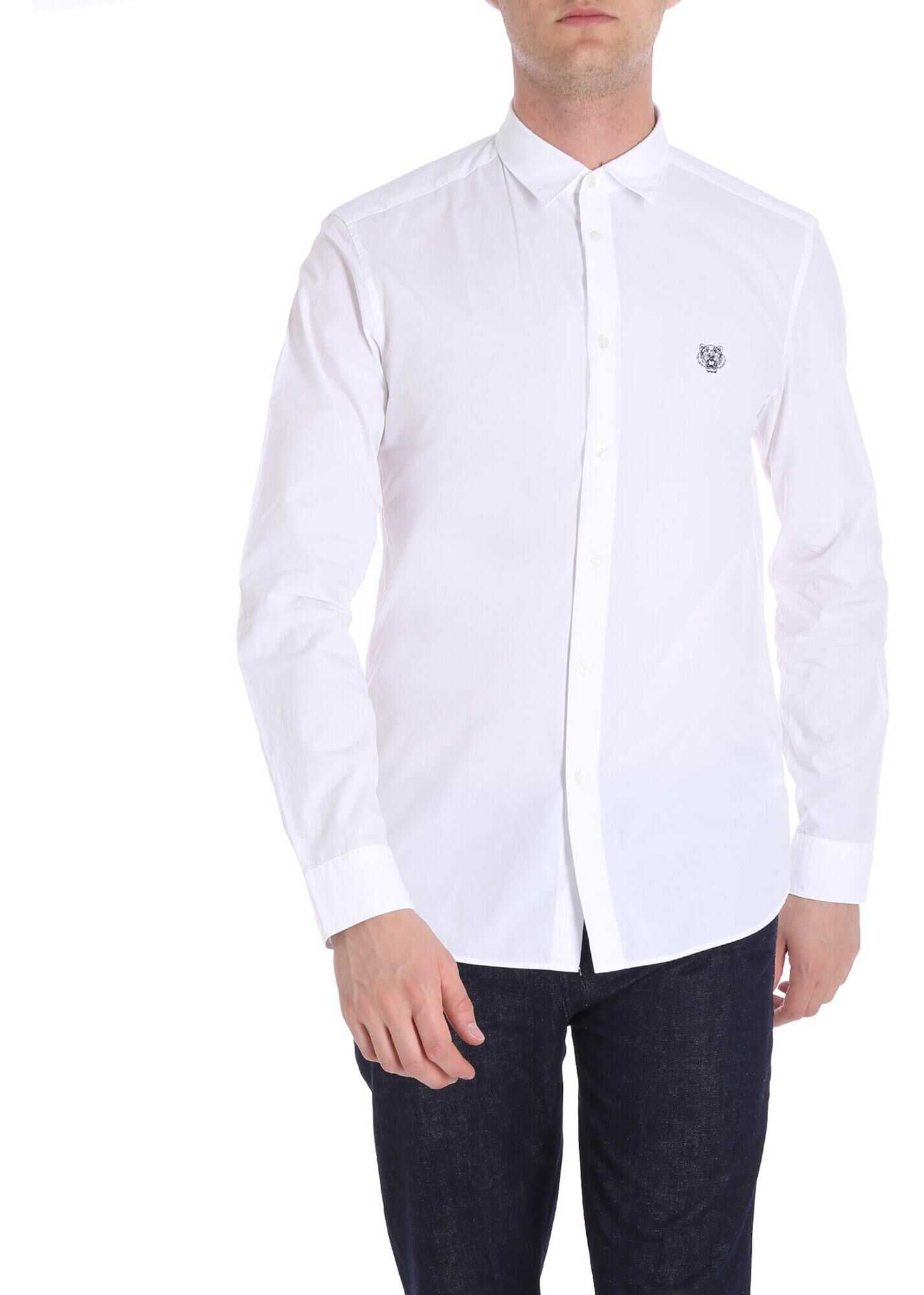 Kenzo White Urban Shirt White imagine