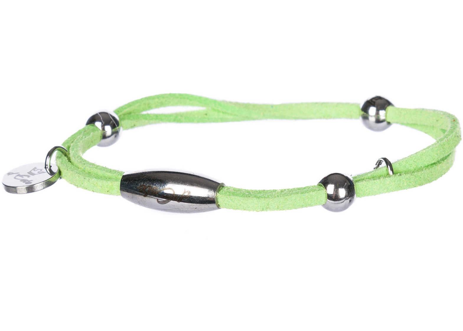 d'Este Bracelet Alcantara Green