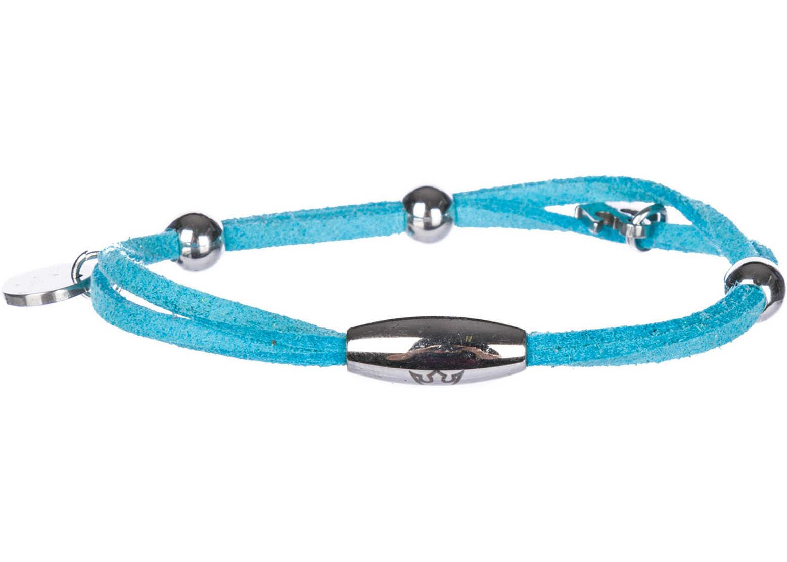 d'Este Bracelet Alcantara Light blue
