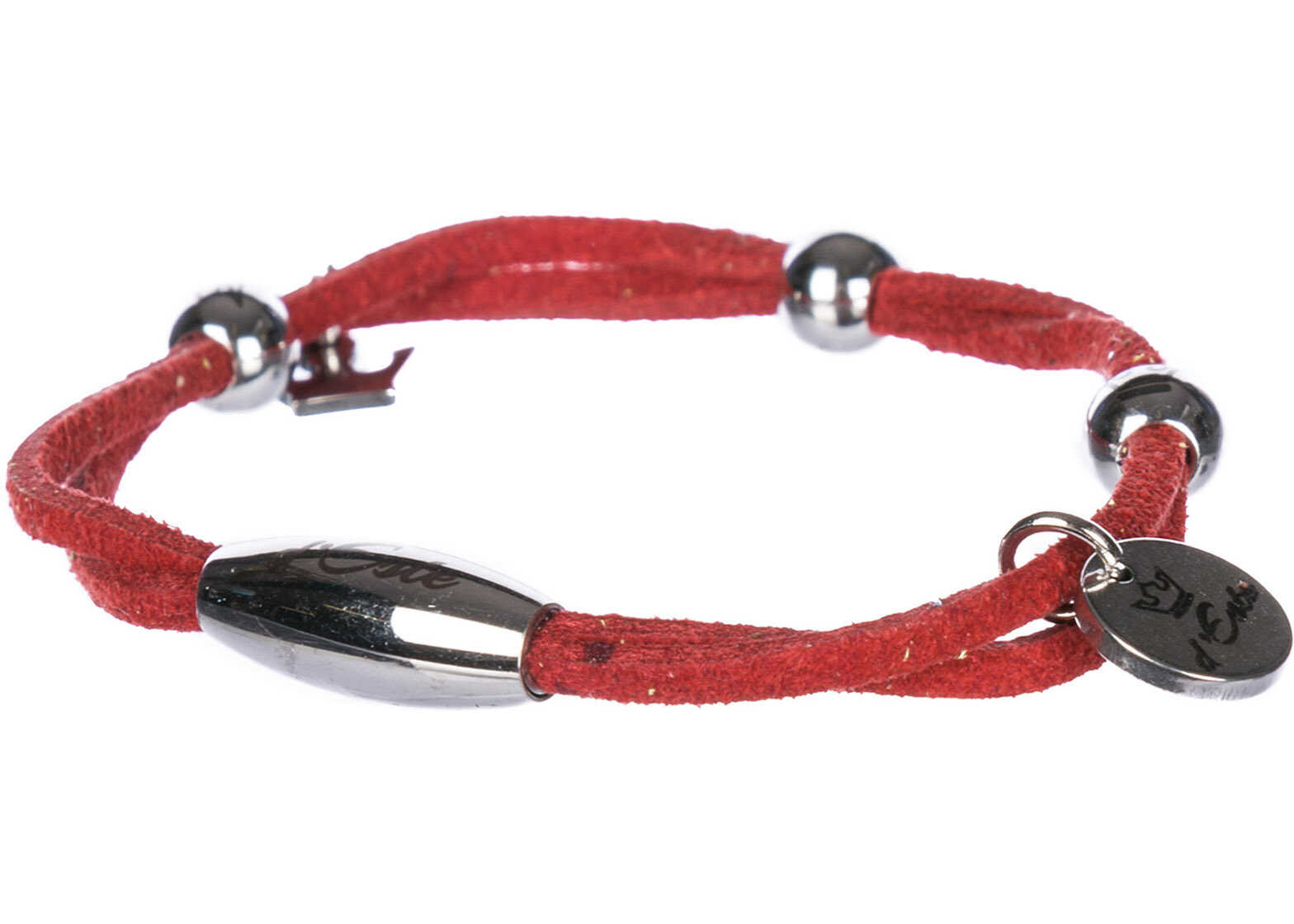 d'Este Bracelet Alcantara Red