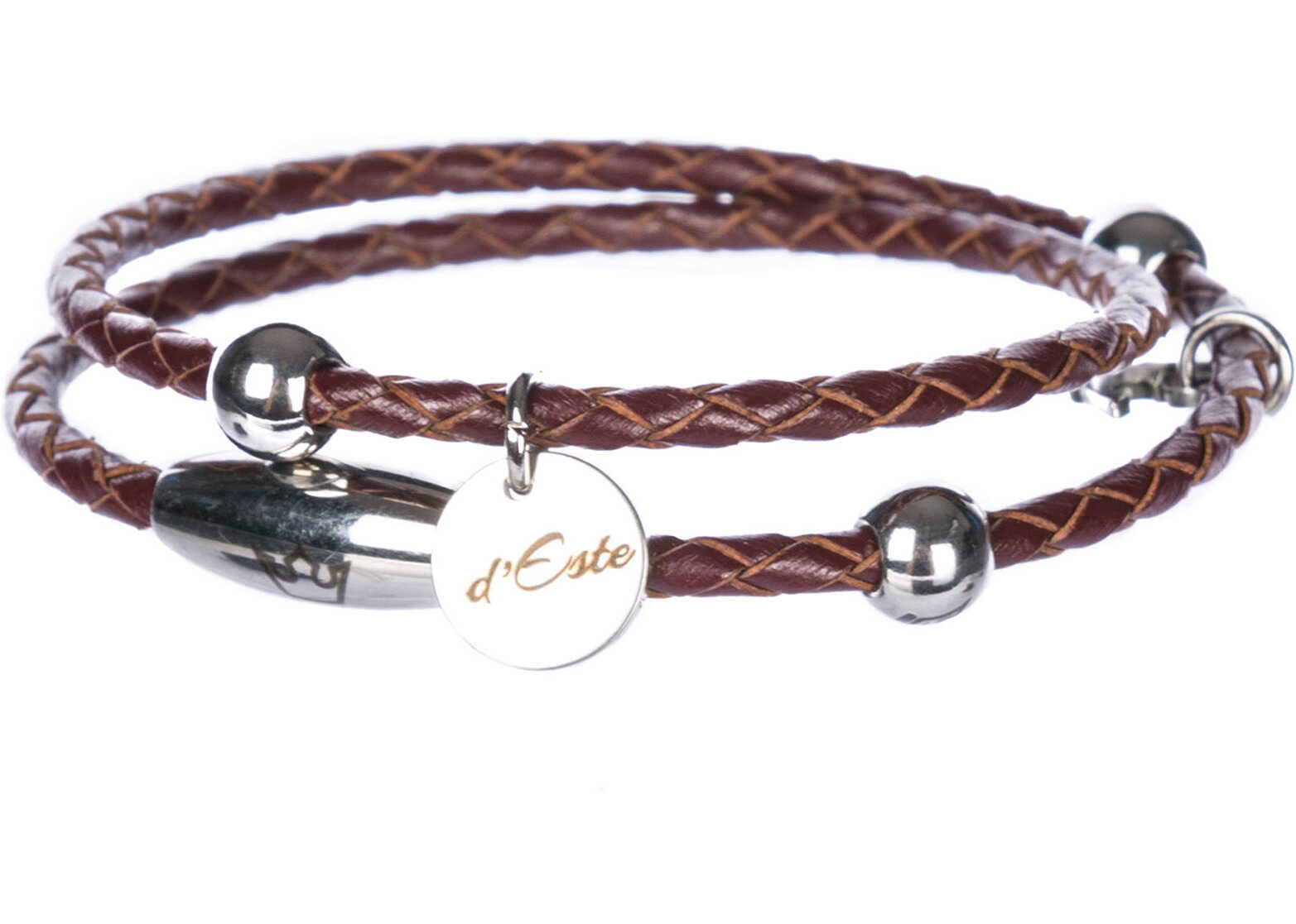 d'Este Leather Bracelet Brown