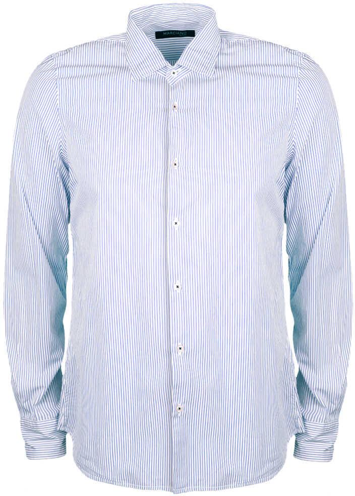 GUESS Marciano Guess Koszula Biały, Niebieski