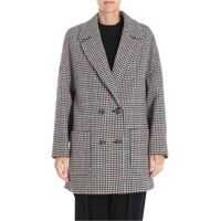 Geci RED VALENTINO Houndstooth Double-Breasted Wool Coat