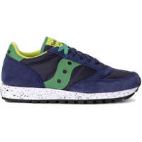 Sneakers Jazz Lime And Green Blue Fabric And Suede Sneaker Barbati