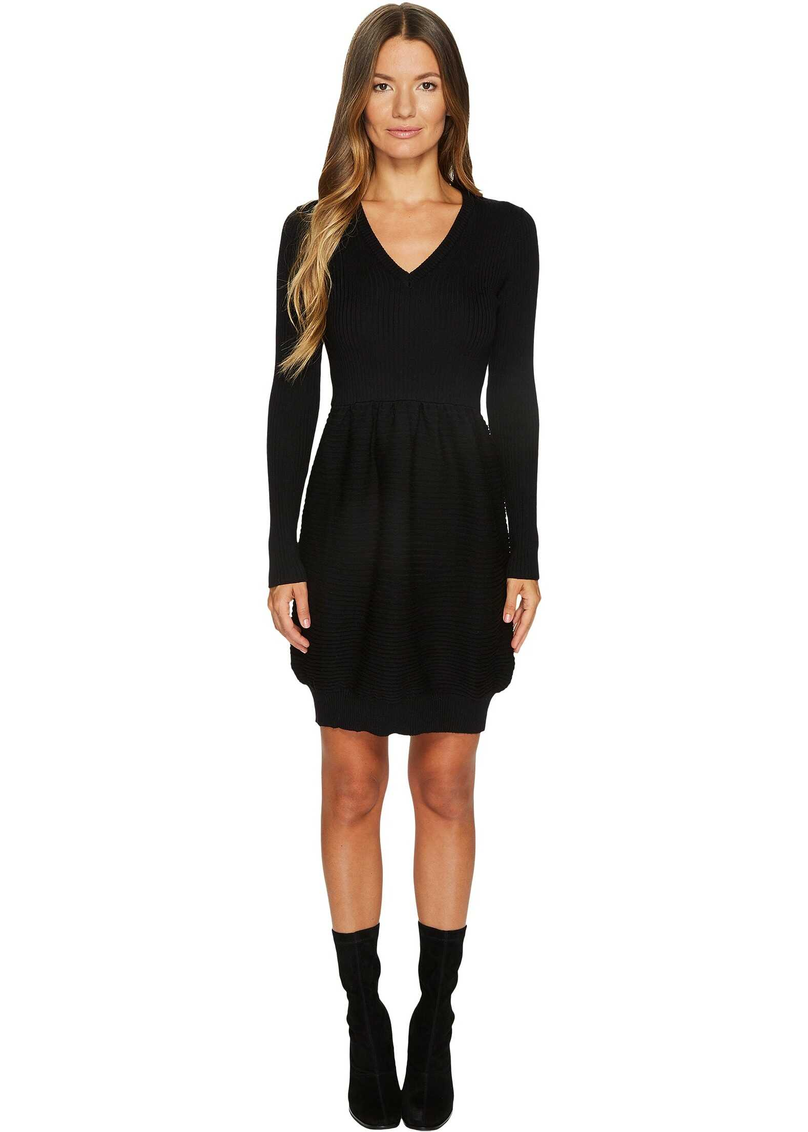 LOVE Moschino Knit Long Sleeve Dress Black