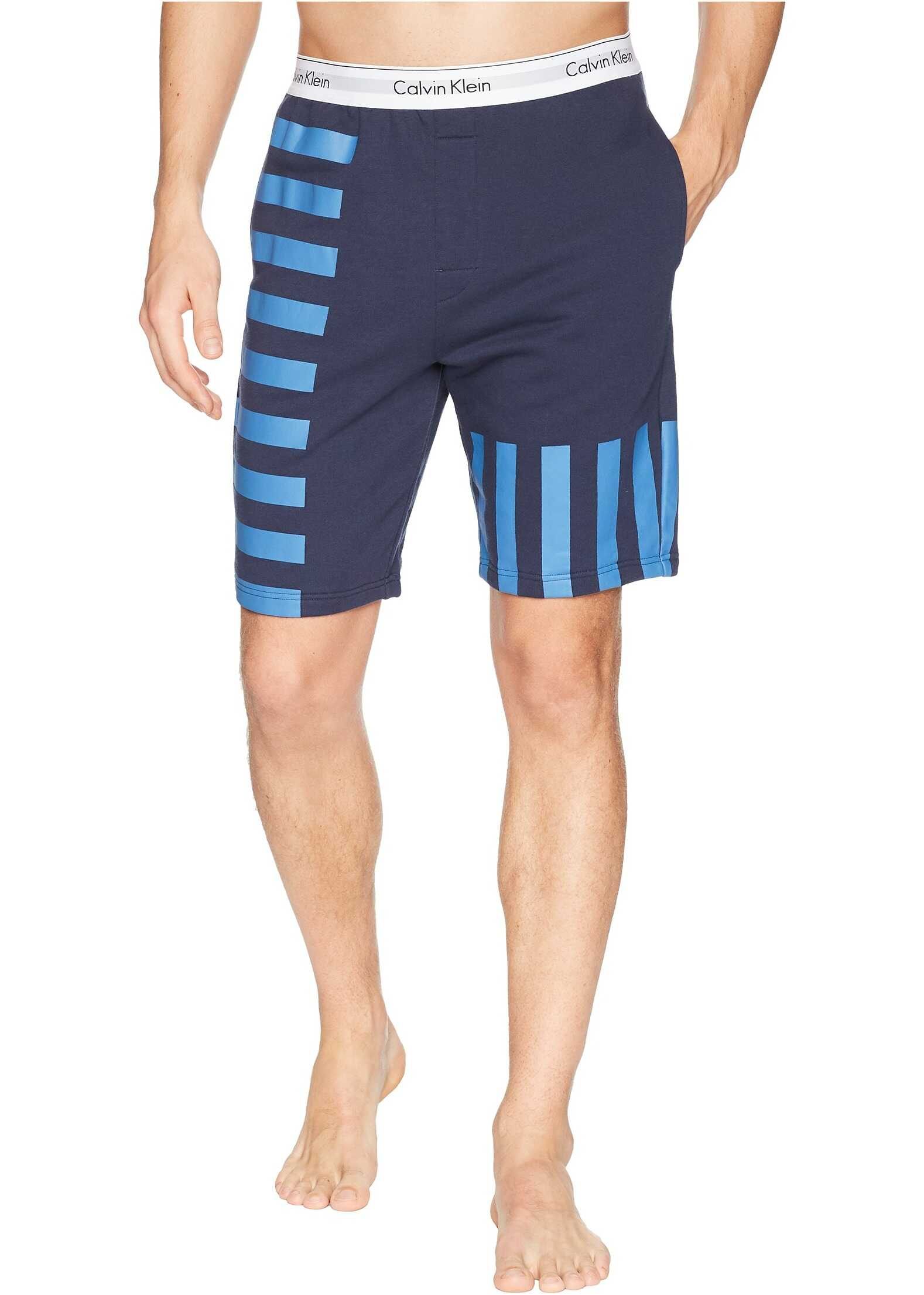 Calvin Klein Underwear Modern Cotton Lounge Shorts Blue Shadow