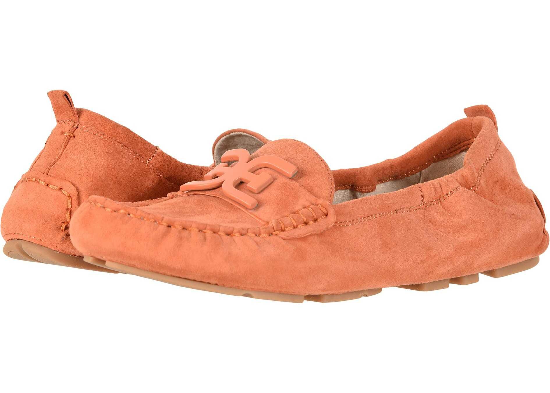 Sam Edelman Farrell Sedona Orange Kid Suede Leather