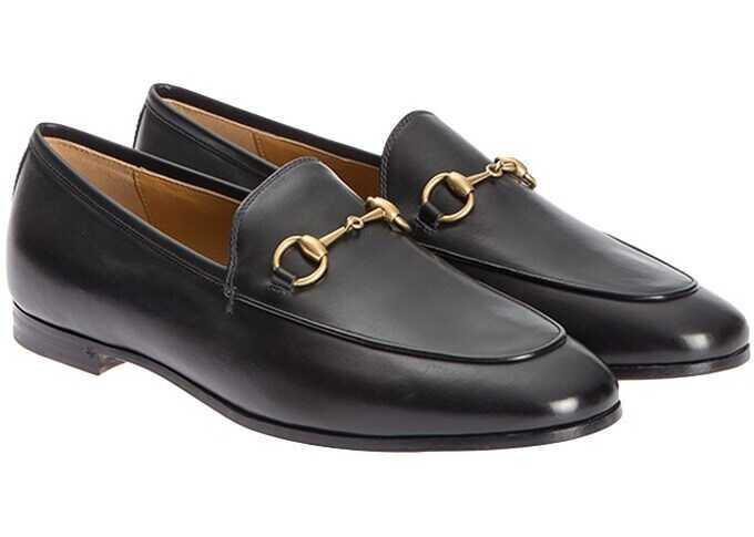 Gucci Jordaan Leather Loafers In Black Black