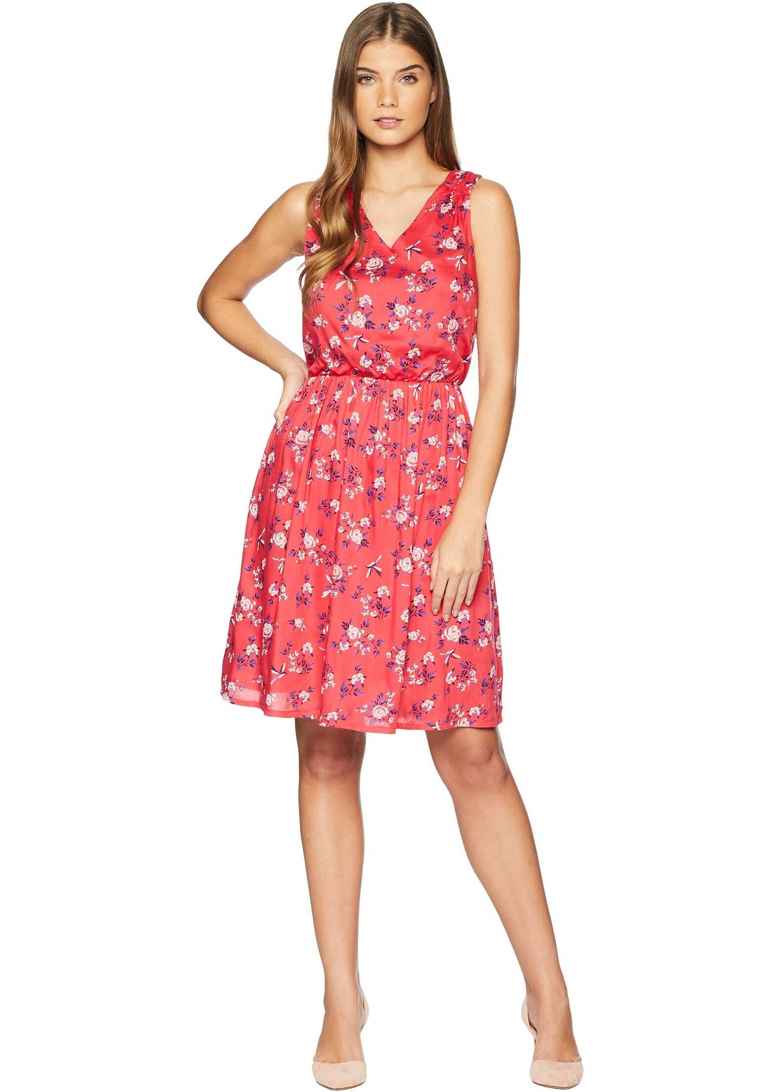 U.S. POLO ASSN. Floral V-Neck Dress Teaberry