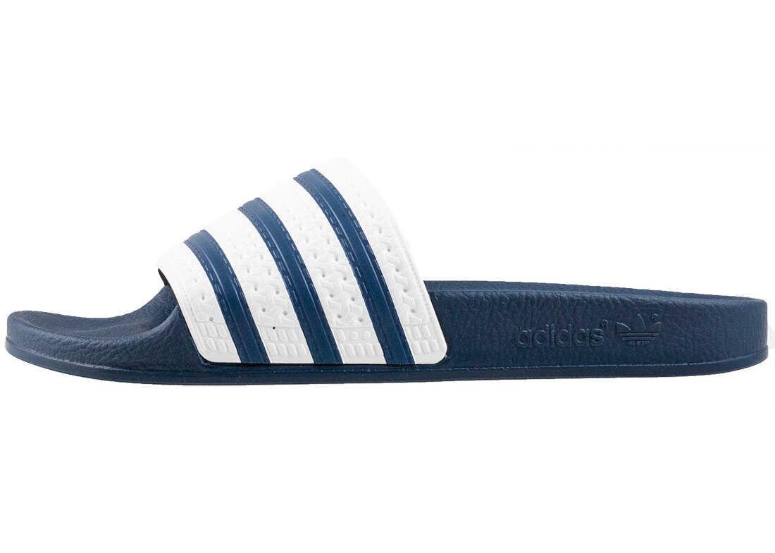 adidas Adilette Unisex Slide In Blue White Blue