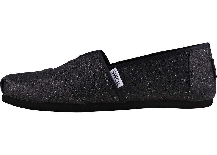 Tenisi & Adidasi Baieti TOMS Classic Iridescent Glimmer Kids Slip On In Black
