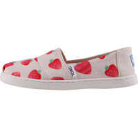 Tenisi & Adidasi Classic Strawberries And Cream Kids Slip On In Beige Red Baieti