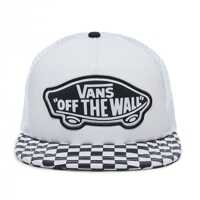 Sepci Beach Girl Trucker Checker Hat In Black And White Barbati