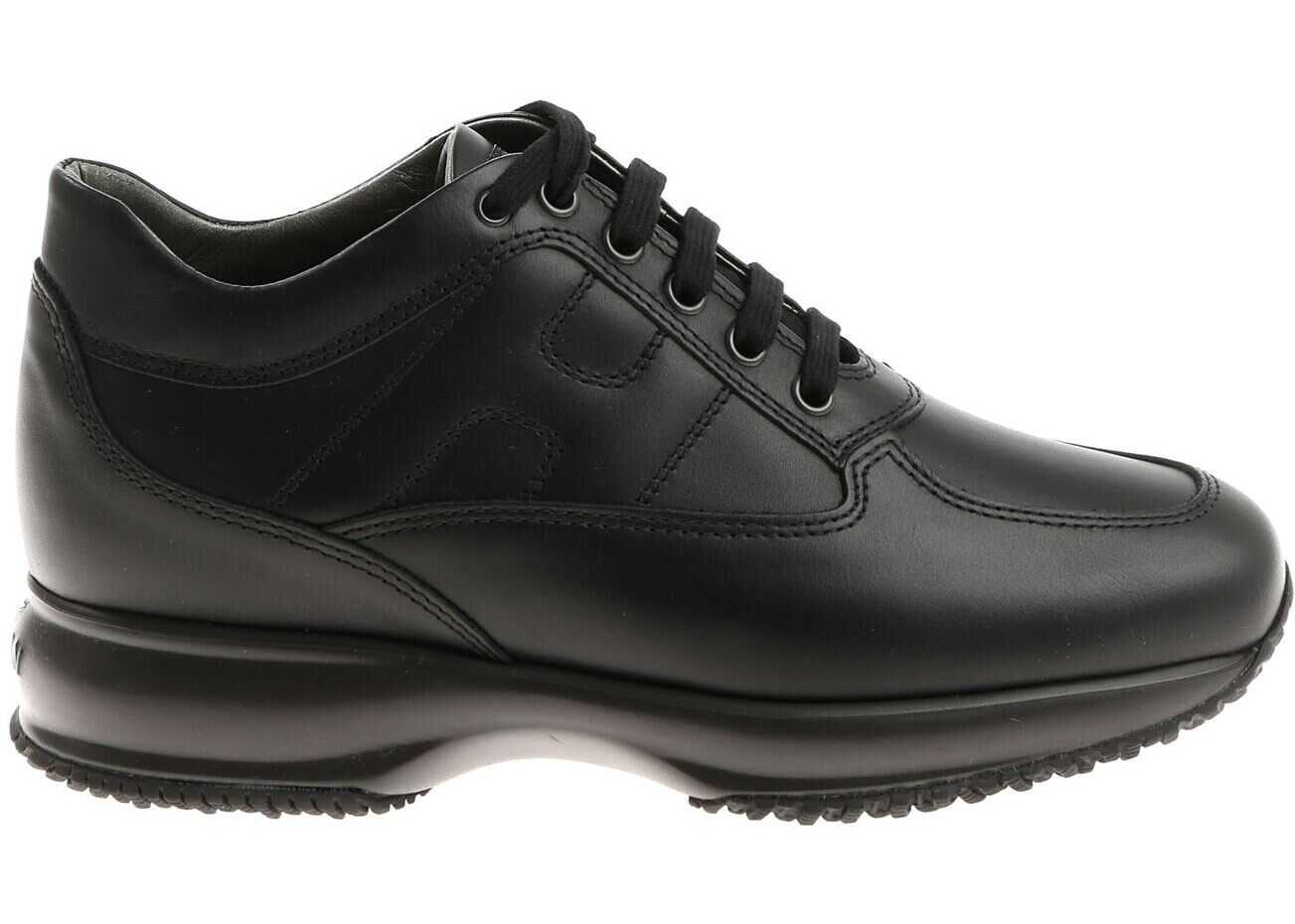 Hogan Interactive Sneakers In Black Black