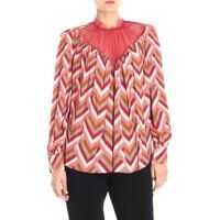 Bluze Elisabetta Franchi Multicolor Blouse With Geometric Prints